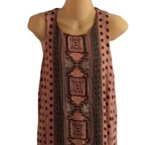 Xhiliration Aztec Racerback Maxi Dress M